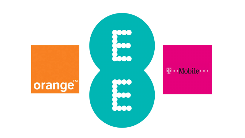 EE T-Mobile and Orange logos