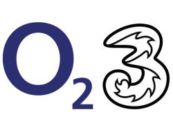 Three Mobile and O2 Mobile logos