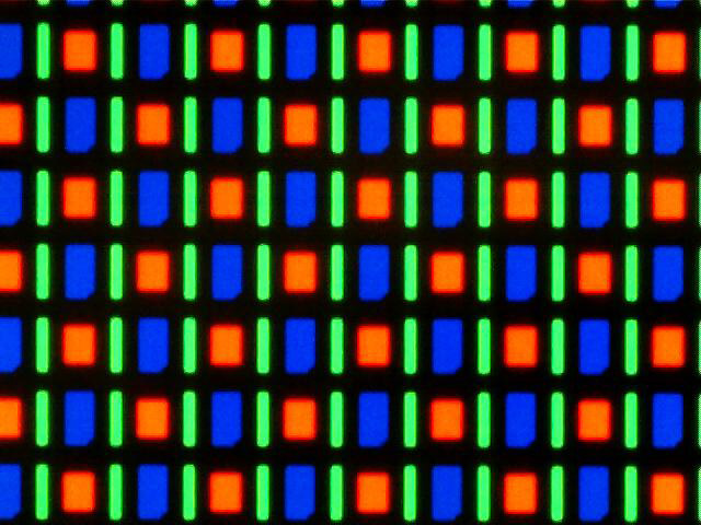 Magnified image of an AMOLED display