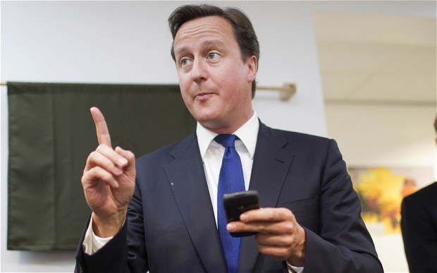 David Cameron Mobile Phone
