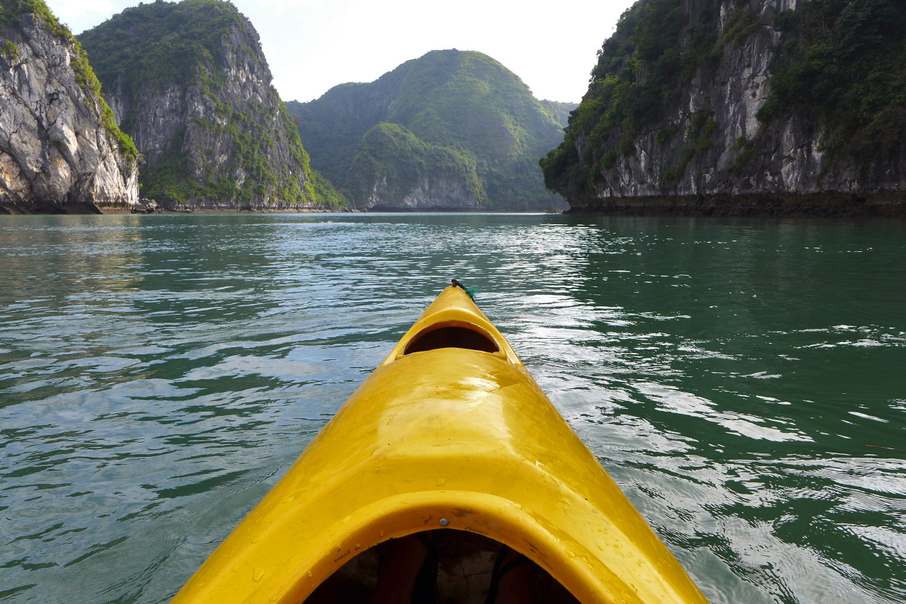 Kayaking in Halong Bay, Vietnam - Unfolding Existence