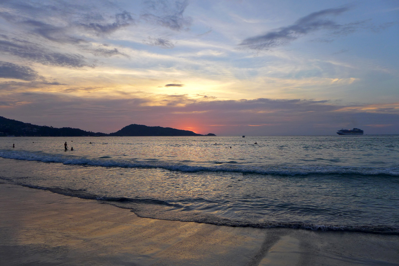 Sunset on Patong Beach. Phuket, Thailand. - Unfolding Existence