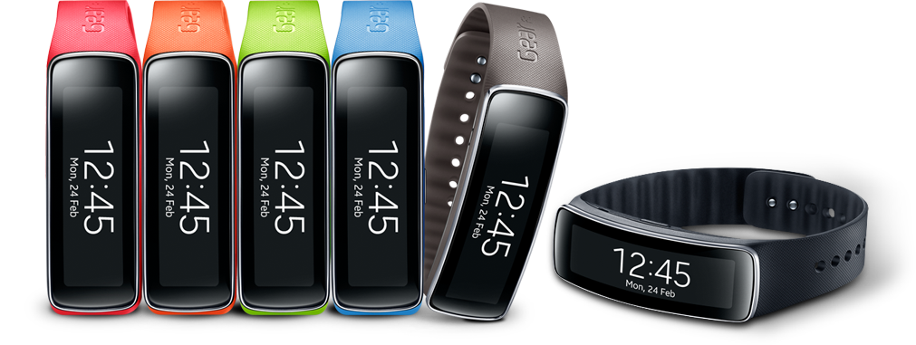 Samsung Gear Fit, all colours
